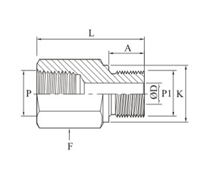 Adapter Npt To Bspp Drawing