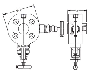 Monoflange Block And Bleed Valve Drawing