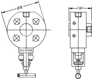 Monoflange Single Isolation Valve Drawing